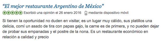 Gotan Restaurante comida argentina en Trip Advisor