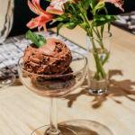 Helado artesanal de chocolate Bariloche